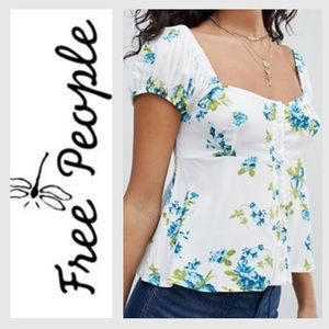 NWT Free People Ivory Combo Blouse   Size: SP